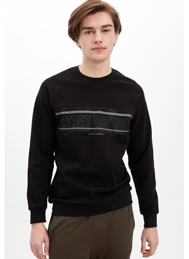 Defacto –Fit Sweatshirt Siyah